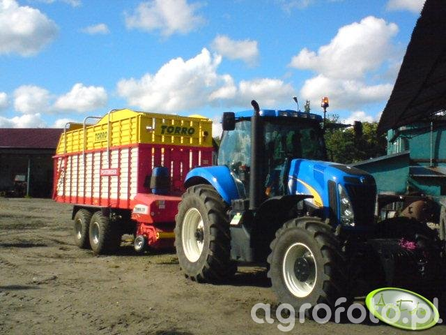 New Holland T8020 + Pottinger Torro 5700