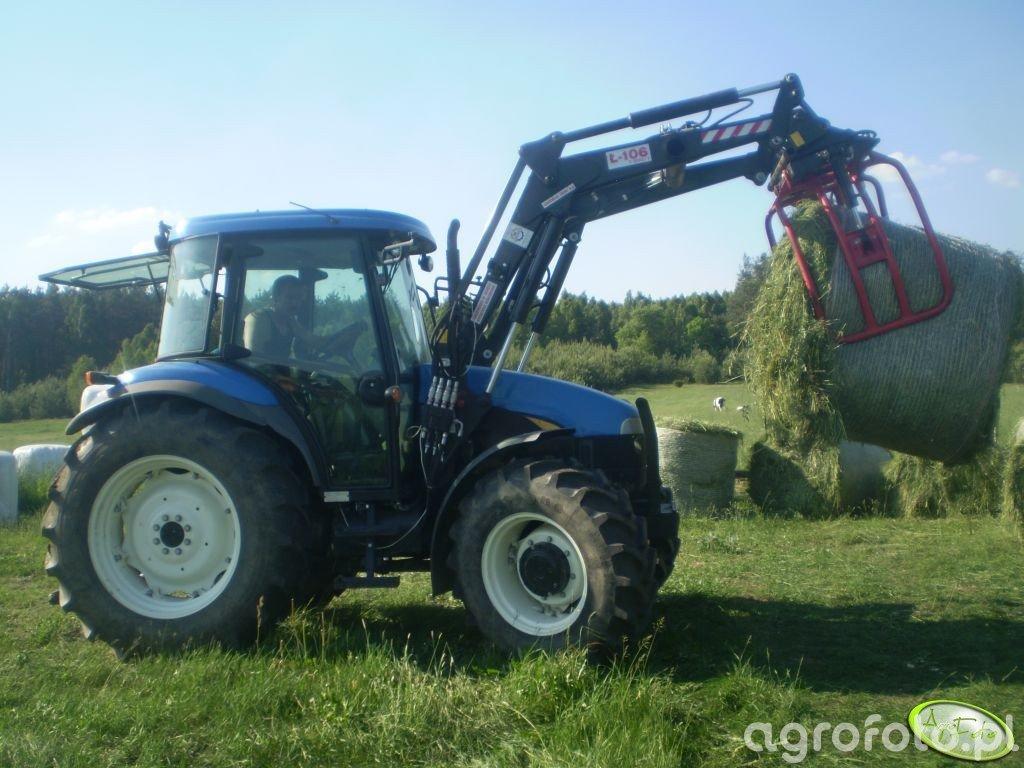 New Holland TD5030 i Agromasz Ł-106