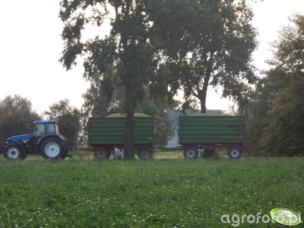 New Holland TM140 + 2xPronar 10 ton