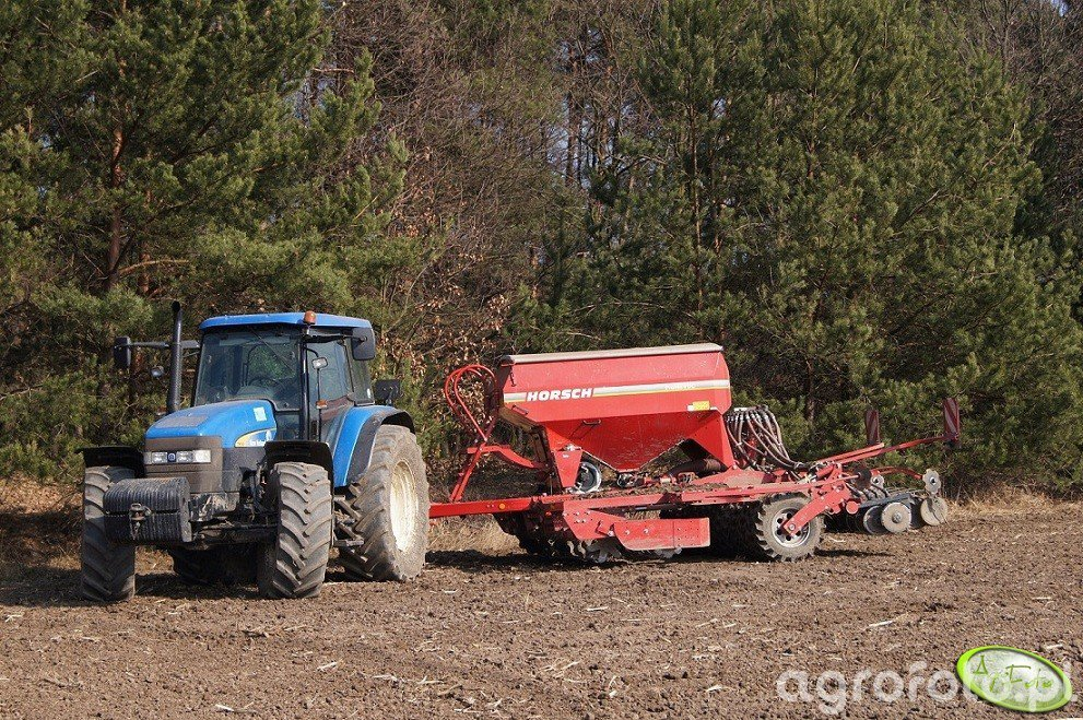 New Holland TM140 + Horsch