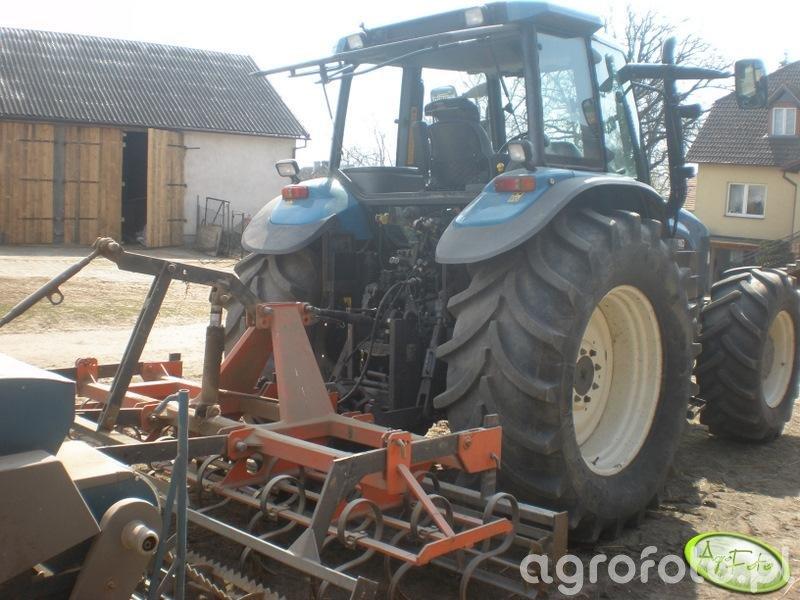 New Holland TM150 + agregat uprawowo-siewny
