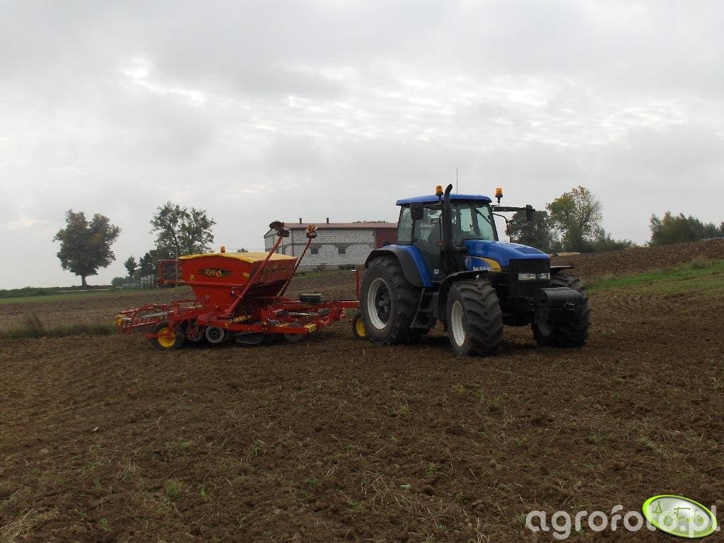 New Holland TM190 + Vaderstad rapid 400S