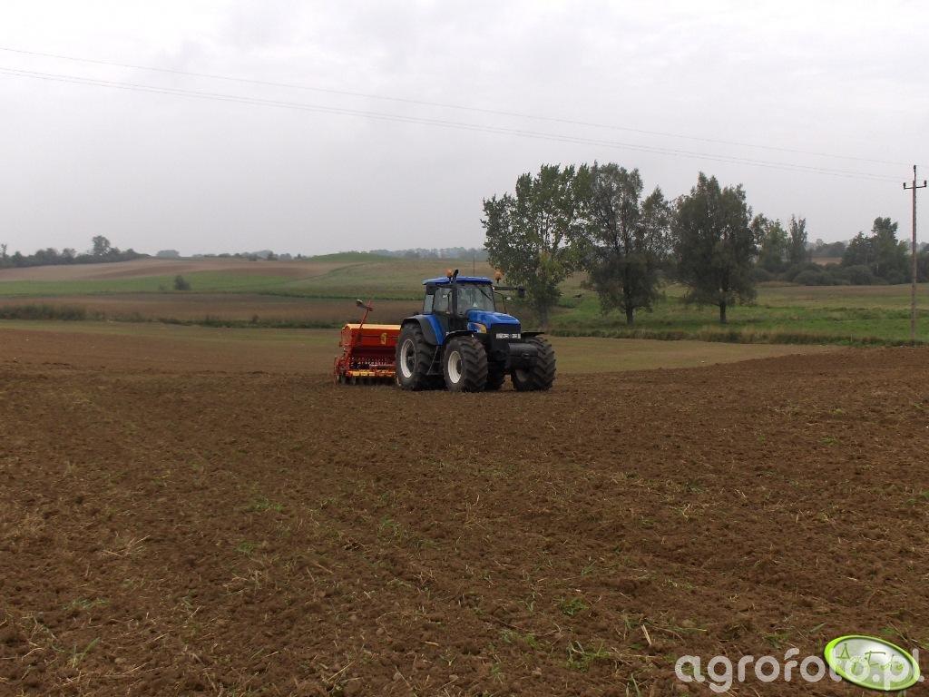 New Holland TM190 + Vaderstad rapid 400S