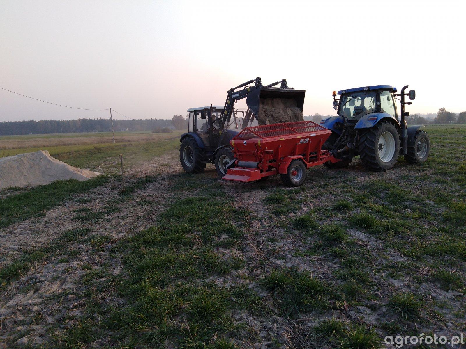 New Holland t6.120 + Lisicki & Farmtrac 675 DT
