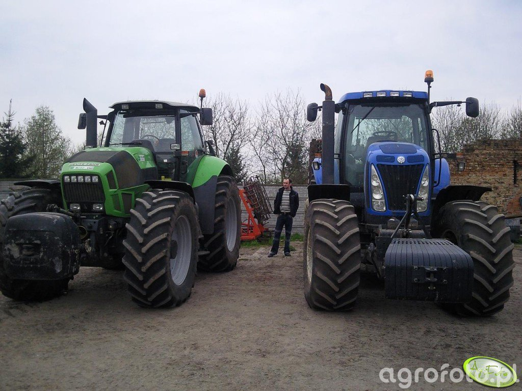 NH T8030 i Deutz-Fahr Agrotron X720