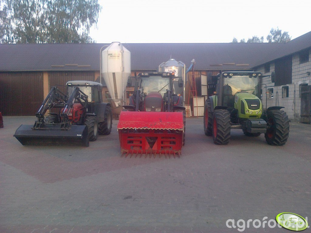 Same Roller 70, Valtra n91 i Claas Arion 430 CIS