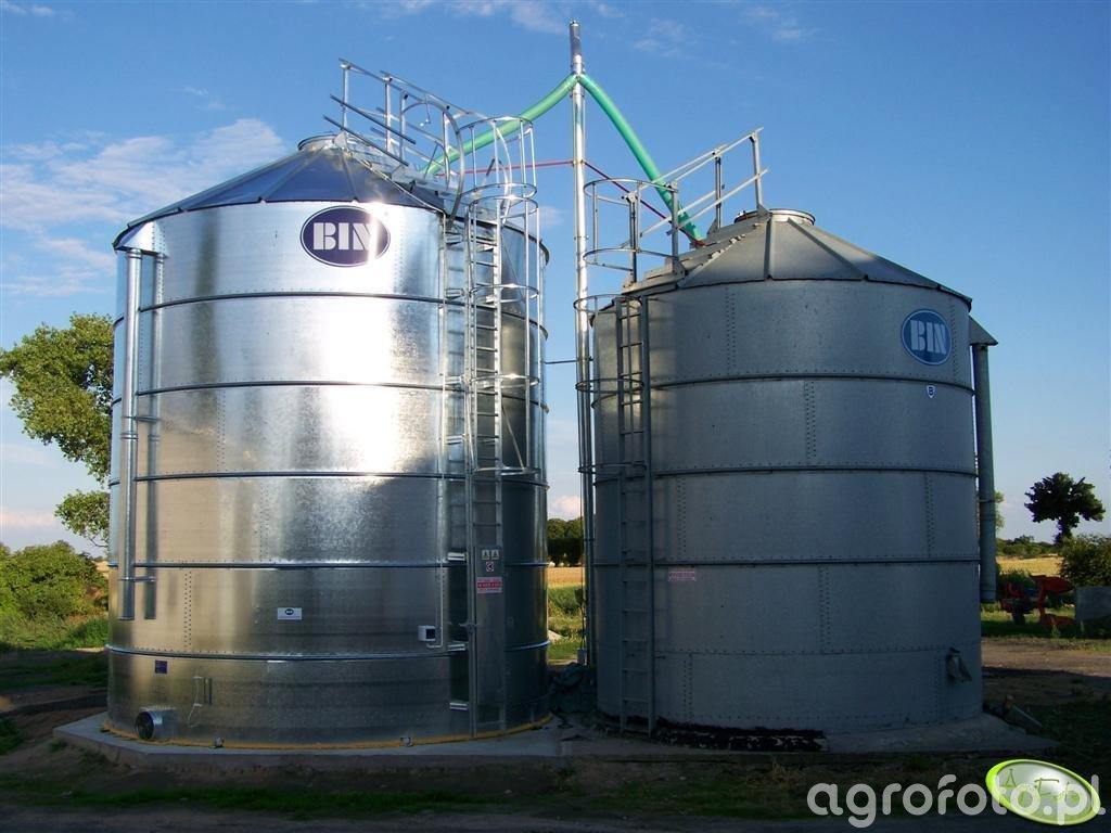 Silosy 60 i 100 ton wraz z podajnikiem