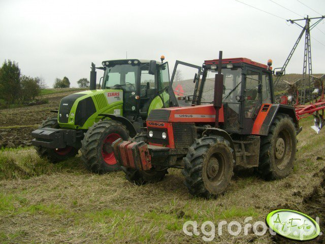 Ursus 1634 i Claas Axion 830