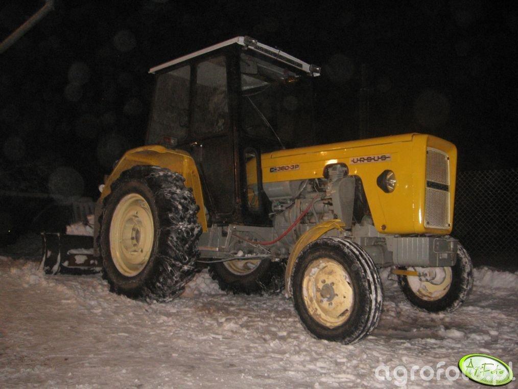 Ursus C-360 3P + pług do śniegu