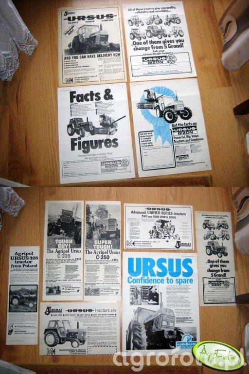 Ursus/Bizon - materiały reklamowe UK