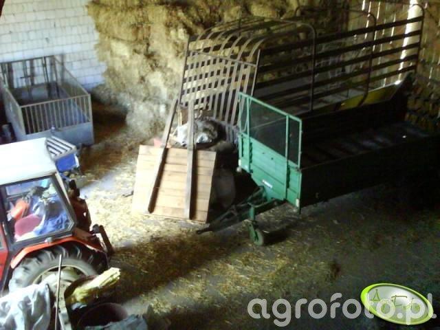 Widok na kilka sprzentow w stodole
