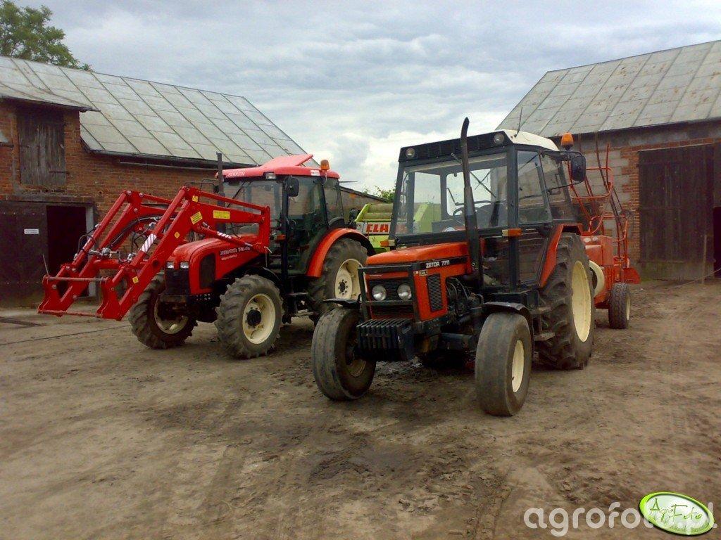 Zetor 7341 + Claas Rollant 44 & Zetor 7711 + Sipma Z-224/1