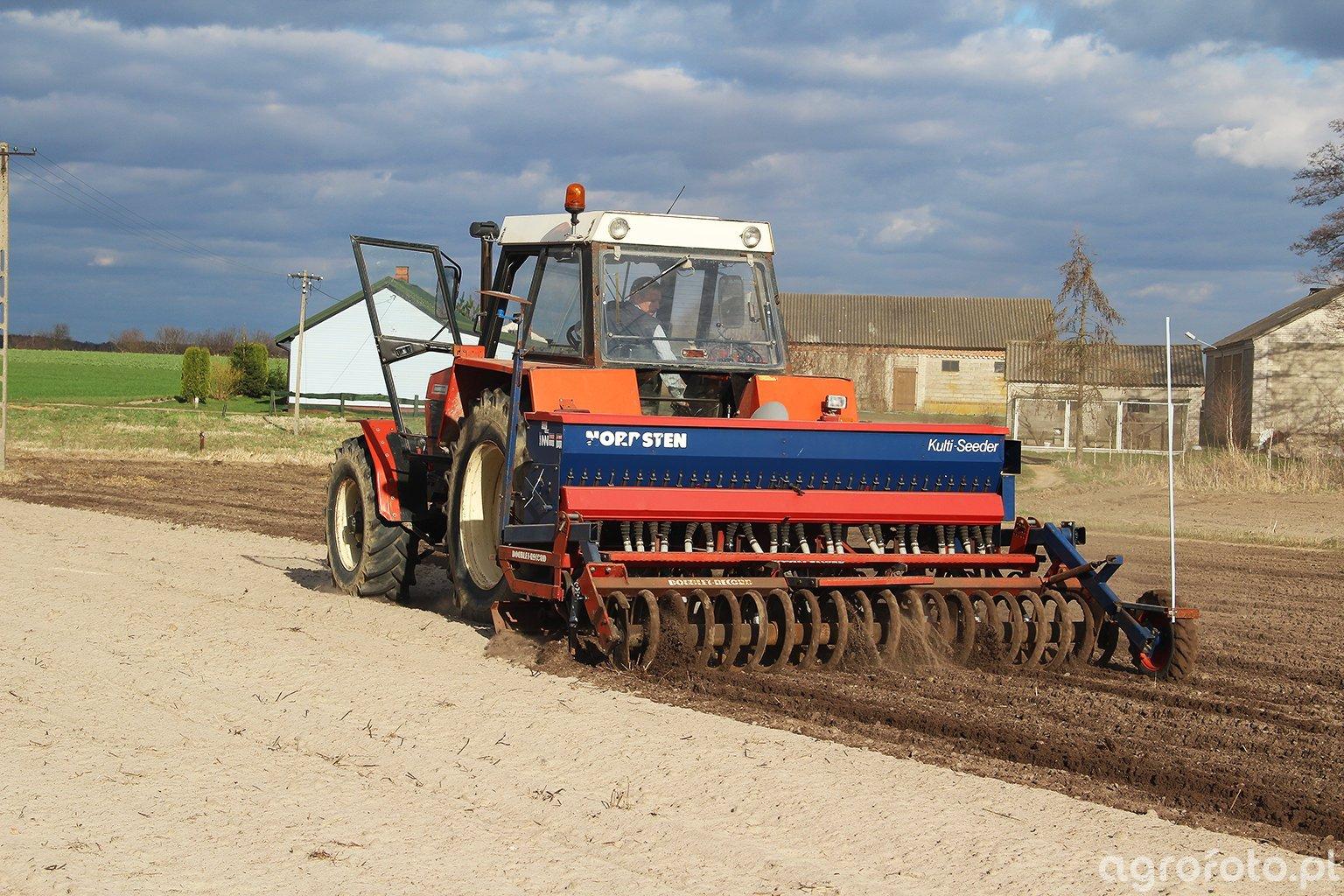 Zetor 12145 + Doublet-Record & Nordsten Kulti-Seeder Thrige Agro