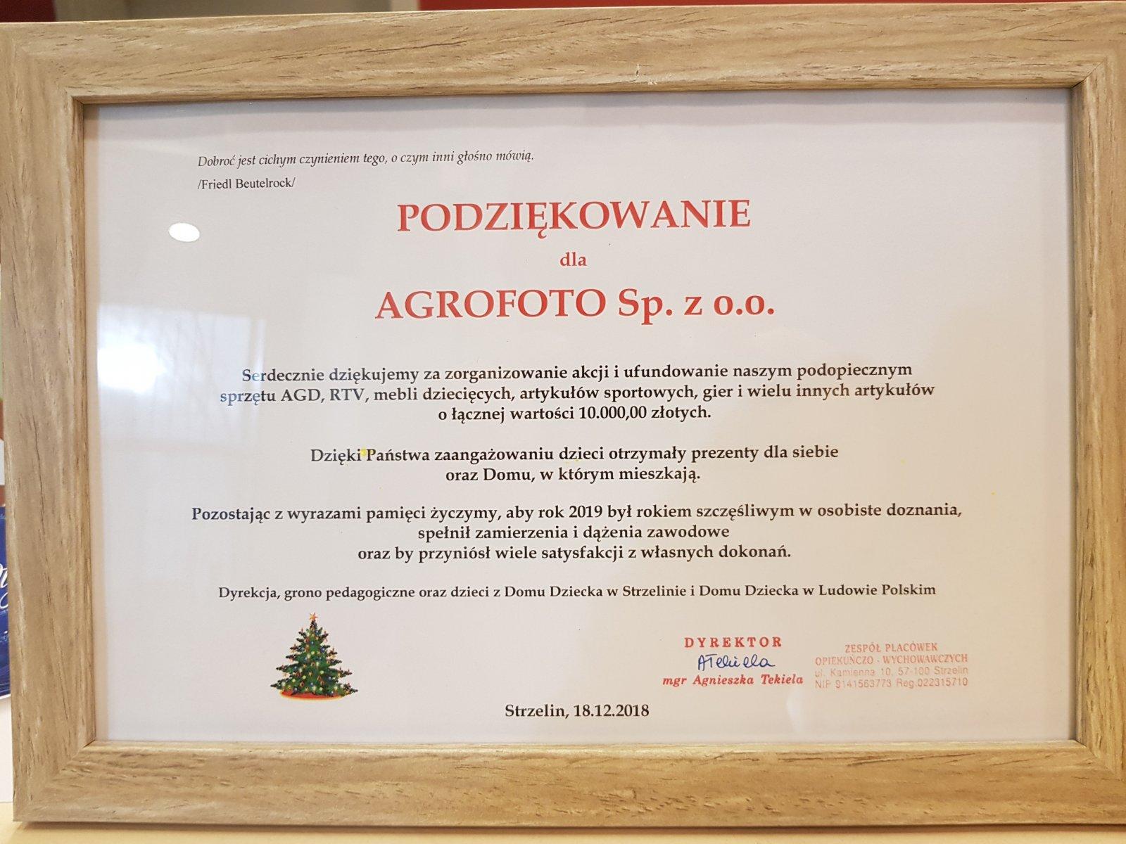 Choinka AgroFoto i Przyjaciele Dzieciom - 2018