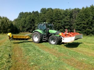 Deutz fahra Agrotron 1160 TTV i Kuhn &Pronar
