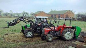 Deutz Fahr Agrofarm 85 i Massey Ferguson 350