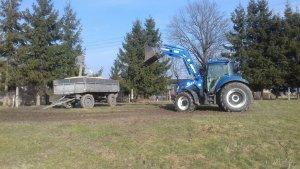 New Holland T6.105 / AgroMasz L-106A / Przyczepa