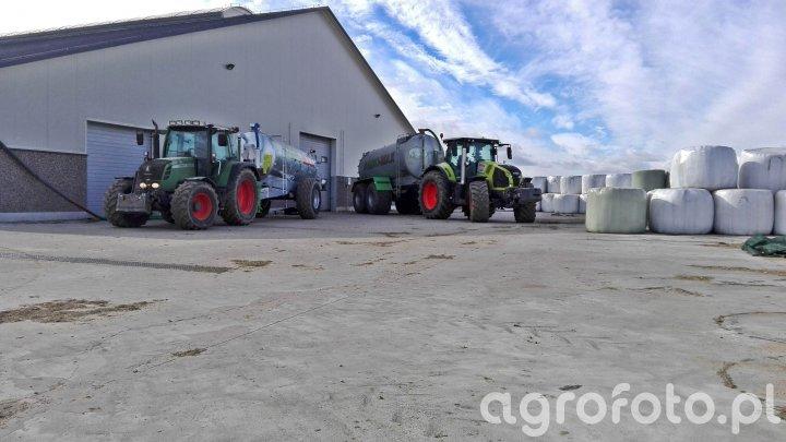 Claas axion 870 & Fendt 312 & Agro-Max