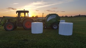 Mchale f5500 & claas ares 577 atz