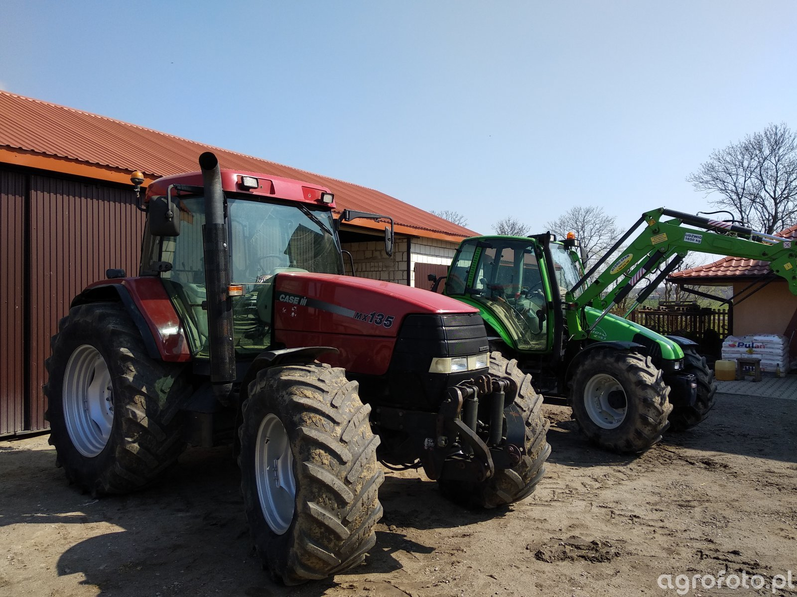 Case Mx 135 + Deutz-Fahr Agrotron 4.95