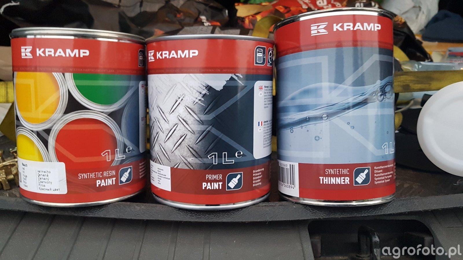 Kramp lakier, rozpuszczalnik i podkład