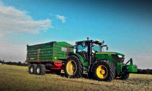 John Deere 6140R + Pronar T683