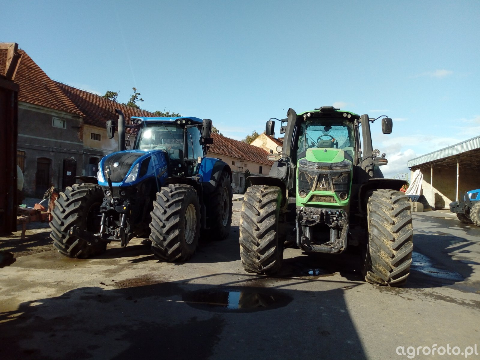 Deutz Fahr 9340 TTV & New Holland T7.315