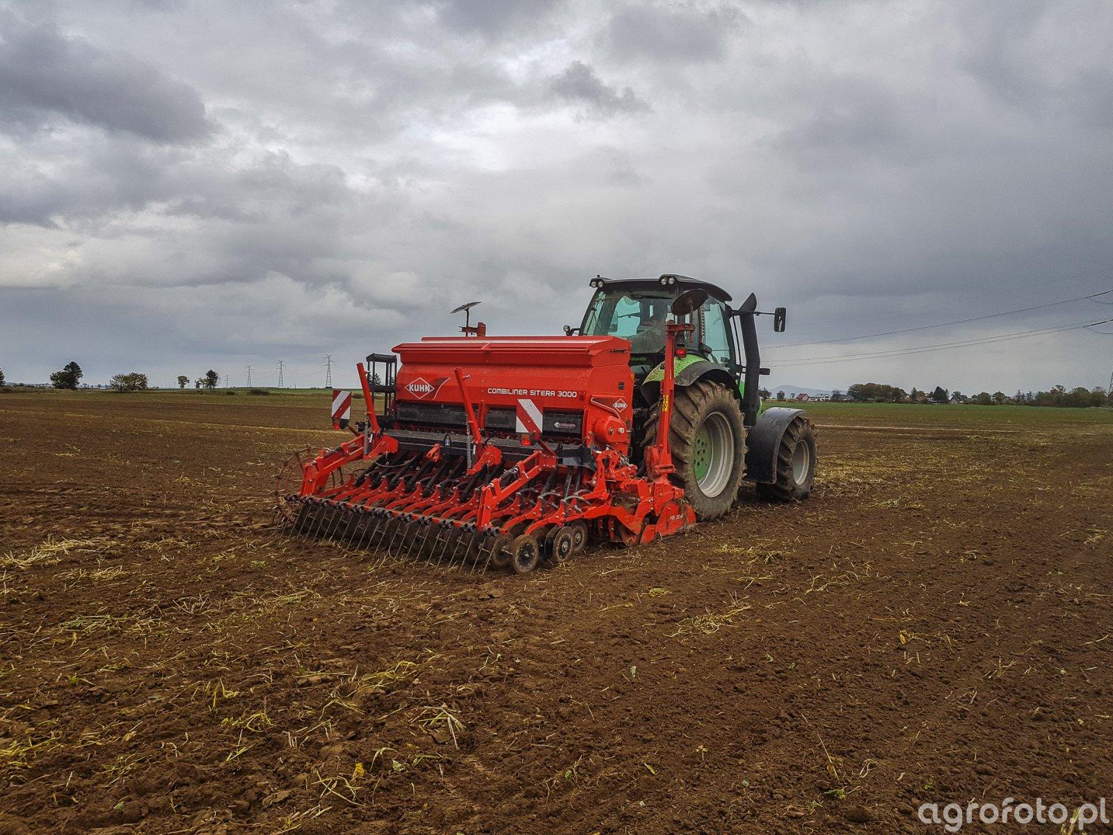 Deutz Fahr M615 Kuhn Sitera - siew pszenicy 10.10.2019