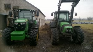 John deere 6105RC & Deutz Fahr Agrofarm 420