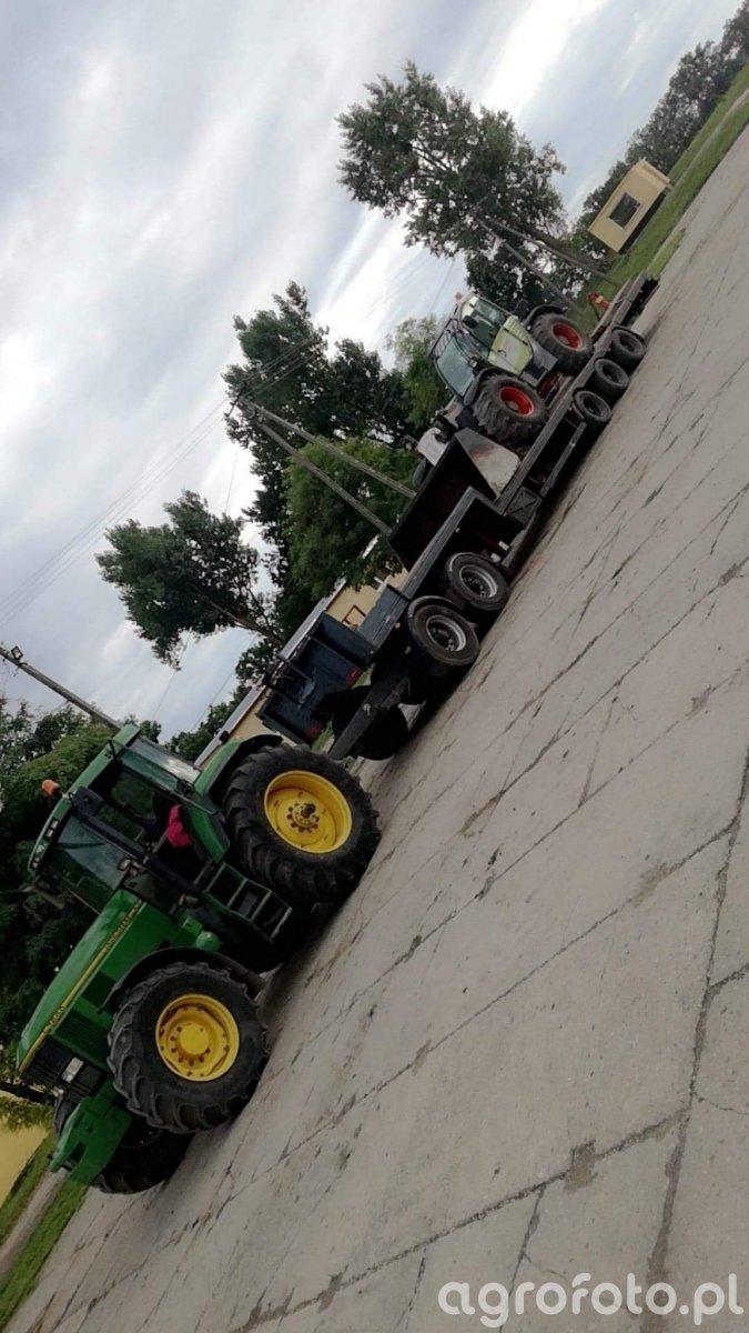 Mały transport na Żuławy.  John Deere 7600 & Claas scorpion 7040