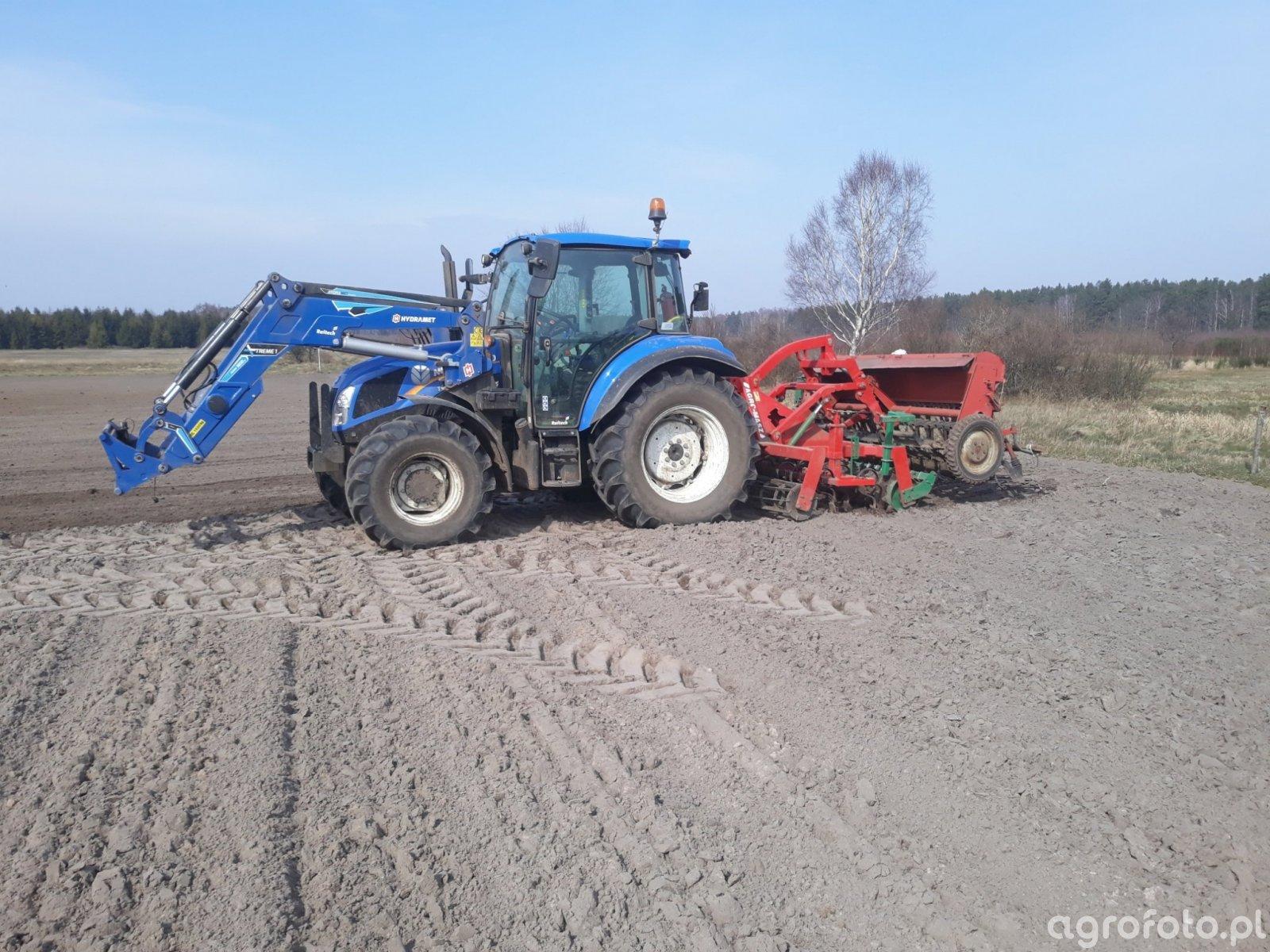 New Holland t4.75 i zestaw uprawowo-siewny 2,5m