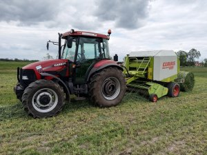 Case JX80 & Claas Rollant 250 RC