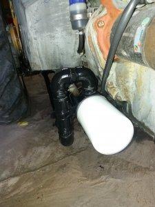 Filtr zewnetrzny hydrauliczny.