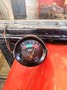 Wskaźnik ciśnienia oleju