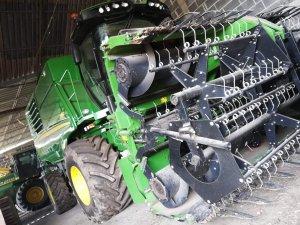 John Deere T550  Geringhoff Harvest Star HV 600