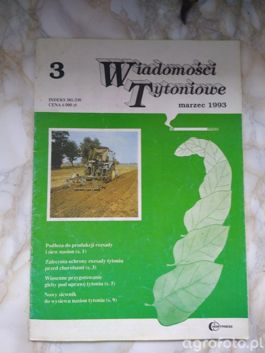 Wiadomości Tytoniowe wyd. 3 rok 1993 marzec