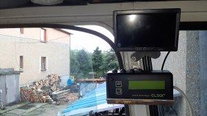 Hektaromierz i monitor kamery cofania