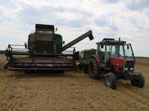 Start w pszenicy ozimej. John Deere 975 & MF 3050 z D732