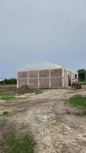 Budowa hali-garażu