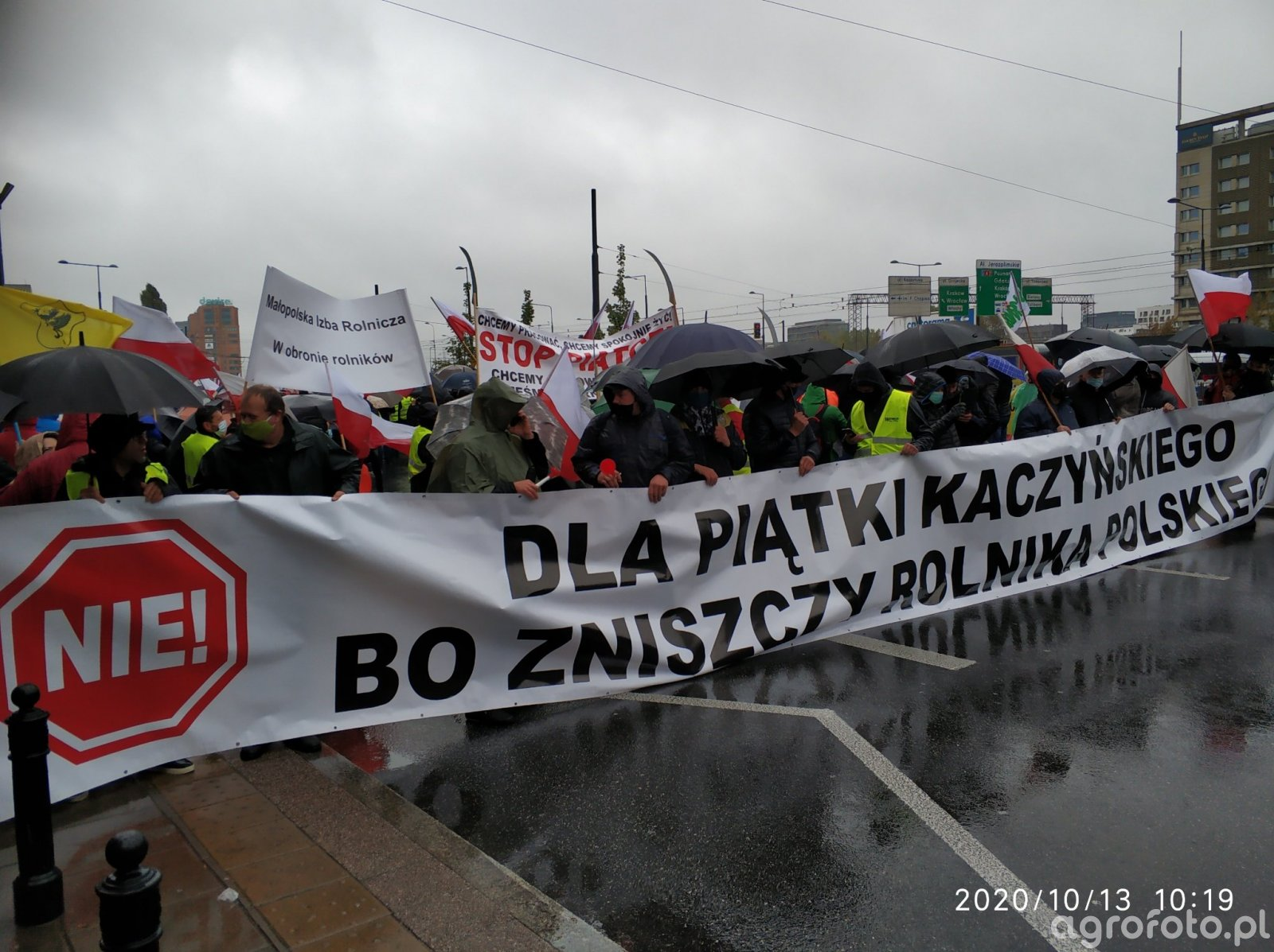 Protest  rolników Warszawa 13 10 2020r