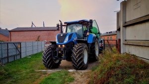 New Holland T7 + Bauer