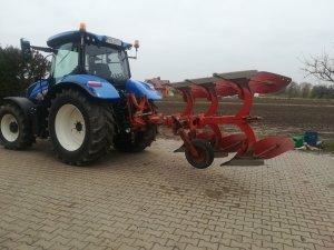 New Holland T6.125S + Fraugde