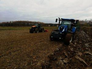 New Holland T6.145 & JCB Fastrac 1115