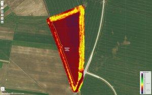 Pszenica ozima 07.11.2020 - zdjęcie satelitarne