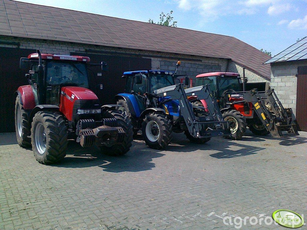 Case Maxxum 140 MC + NH T5040 + Zetor 7341
