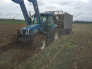New Holland T6080 & Fliegl ASW