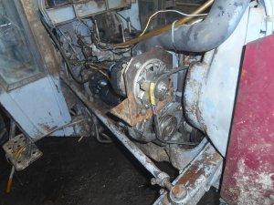 MF255 przerobione mocowanie alternatora