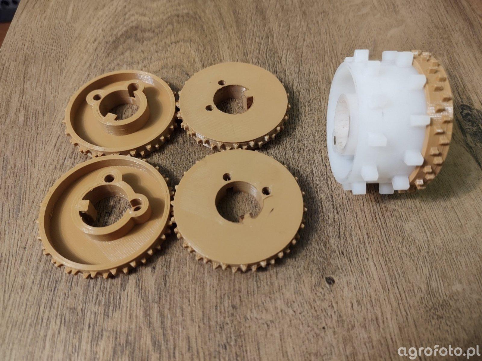 Rolki Wysiewające Isaria 6050 wydruk 3D