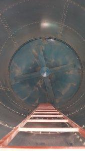 Wnętrze silosu Agropart AS 23