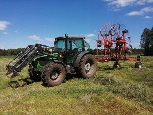 Deutz fahr agrofarm 420 & kuhn ga7501+